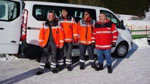 Die BRK Bereitschaft Warmensteinach mit Leiter Martin Höhne und dem 2. Bgm Dr. Fülle