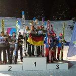 Siegerehrung vom Skisprung-Teamwettbewerb
