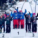 2. Platz im Skisprung Mixed-Wettbewerb