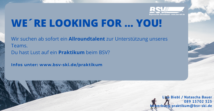 Praktikum beim Bayerischen Skiverband e.V.